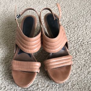MARNI Tan Leather Sandals with Block Heel - 36/37